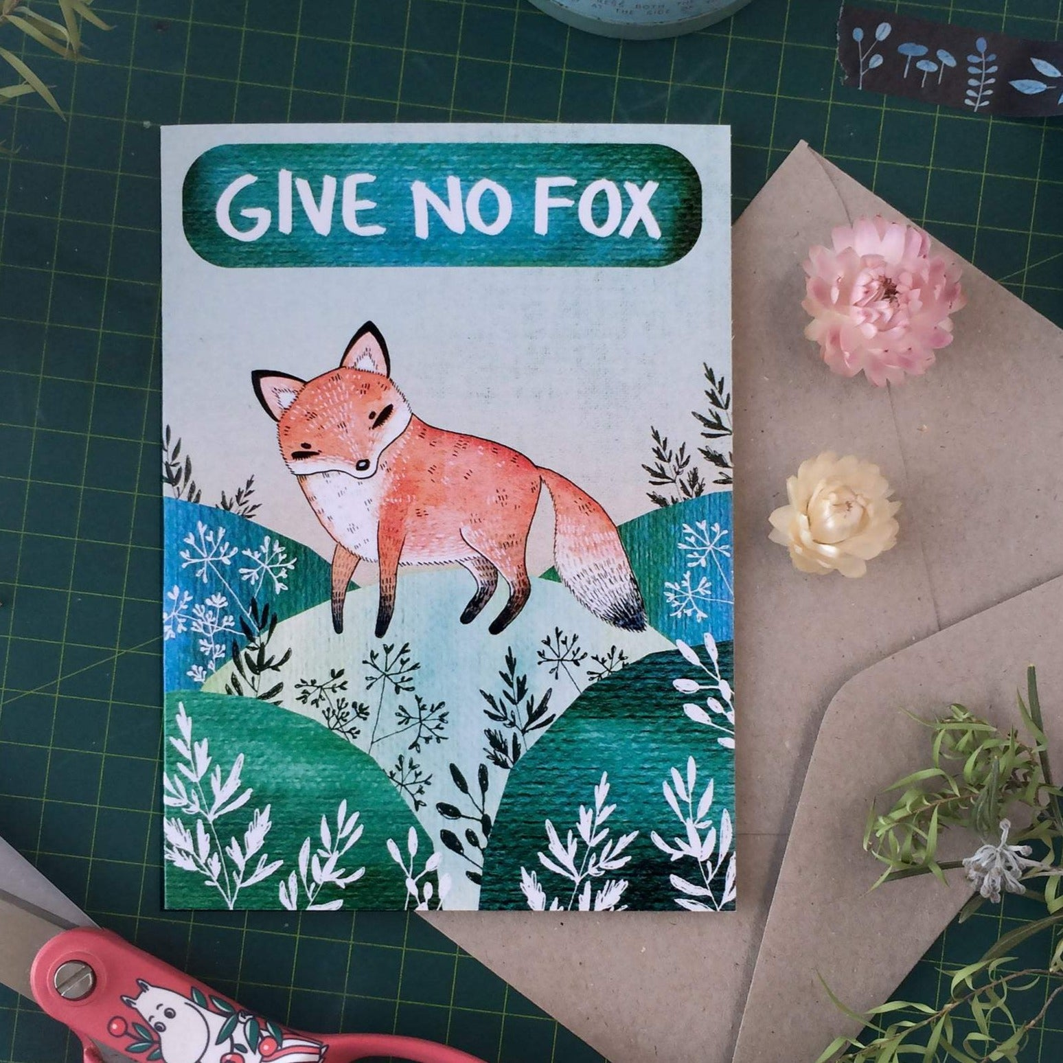 Give No Fox Greeting Card