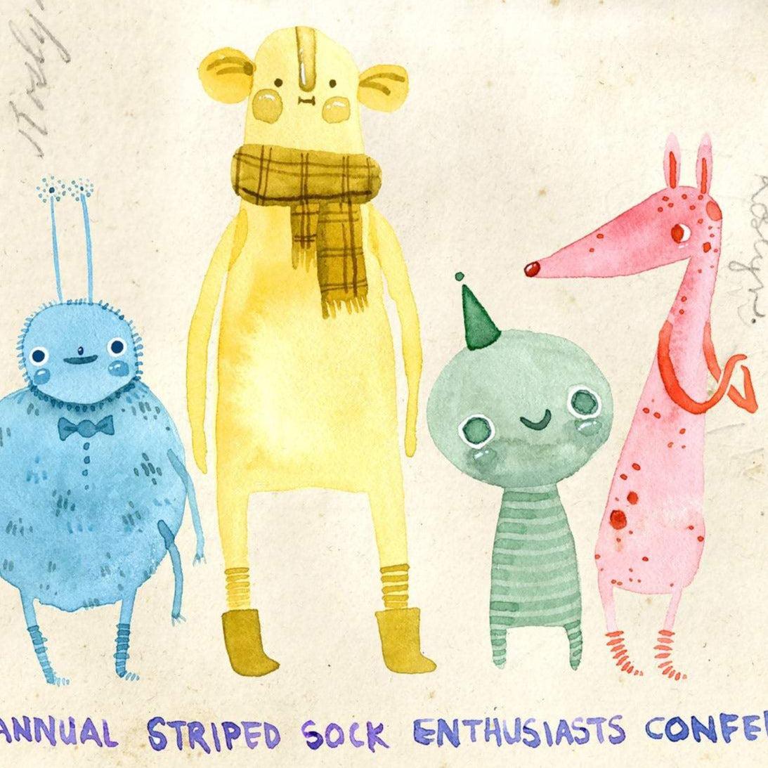 Striped Sock Enthusiasts Card