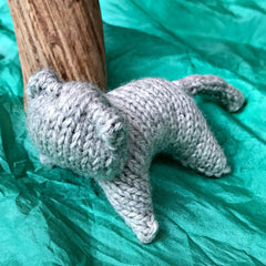 Handknitted 100% wool toy animals, Steiner-inspired imaginative play made by Ewe & Yarn available at Tribe Castlemaine.