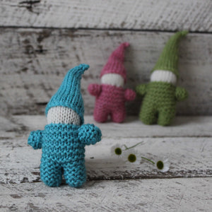 Knitted little gnome softie toys