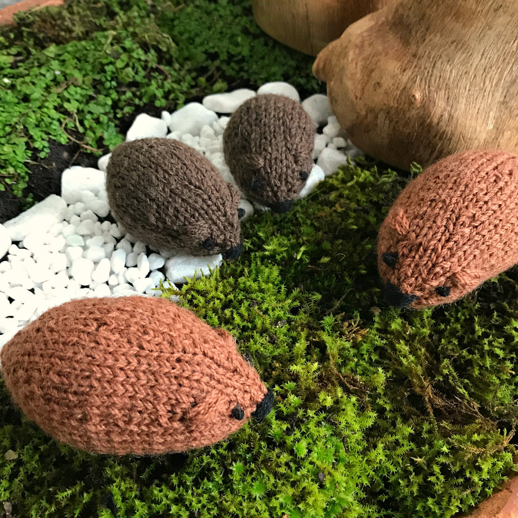 Quick and easy kit to knit your own little woolly wombats, created by Amy Jade Creations at Tribe Castlemaine