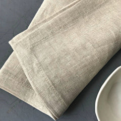 Linen Napkins with Slow Stitch Detail
