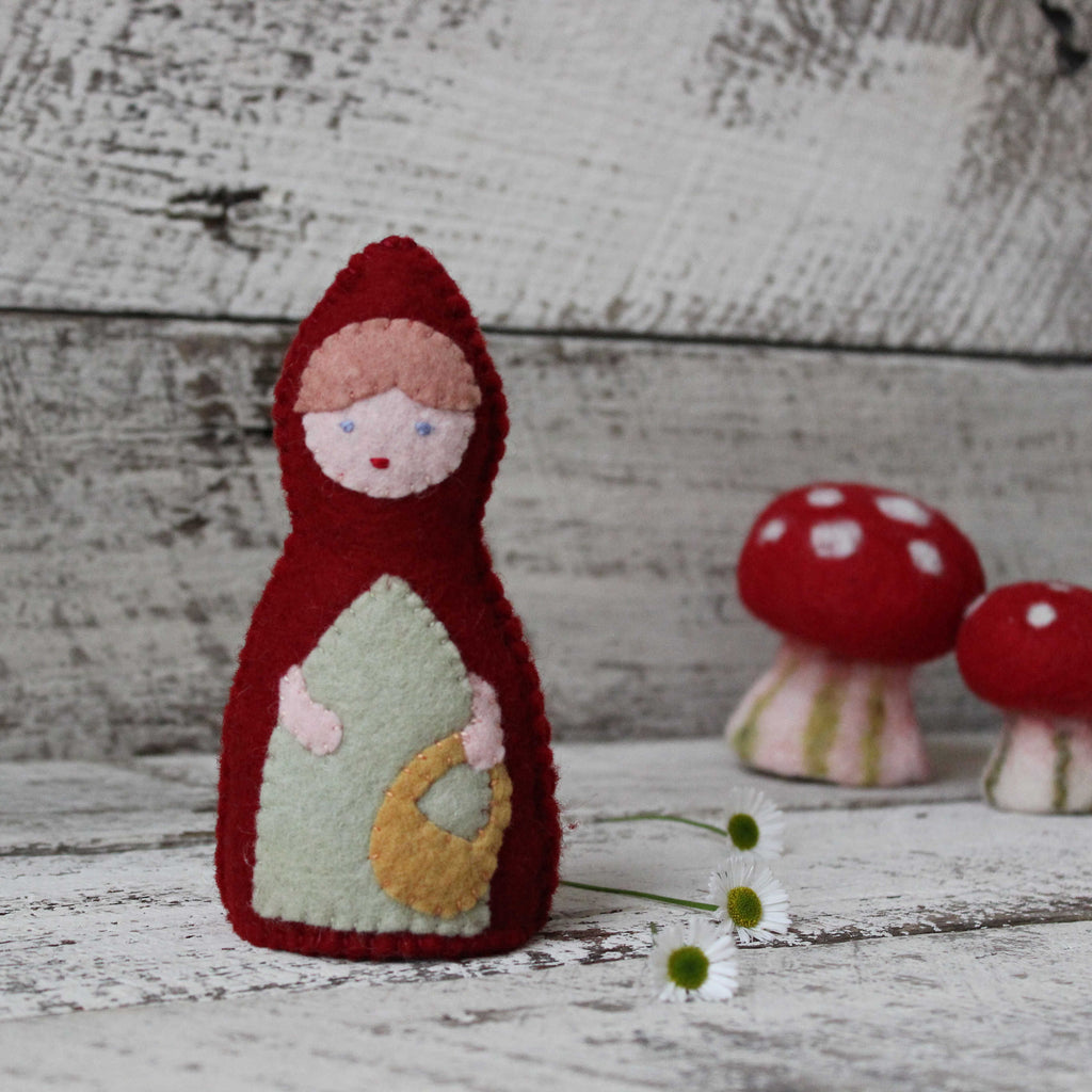 Little Red Riding Hood standing doll