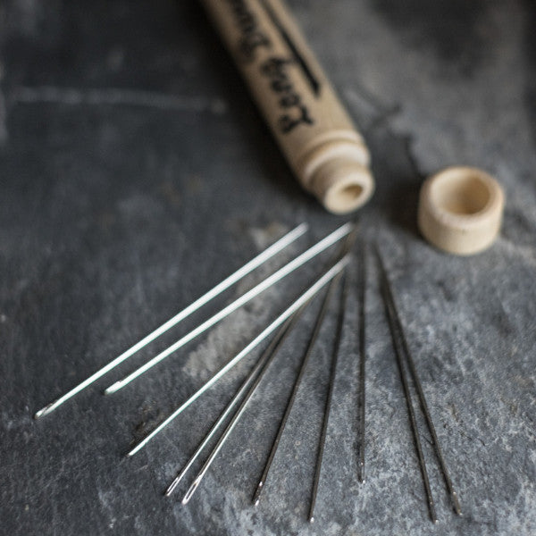 Merchant & Mills long darner needles in a handy wooden case at Tribe Castlemaine.