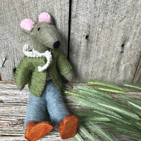 Loaded with personality and oh, so stylish, Mr Ratty natural handmade felt toys for imaginative play from Tribe Castlemaine