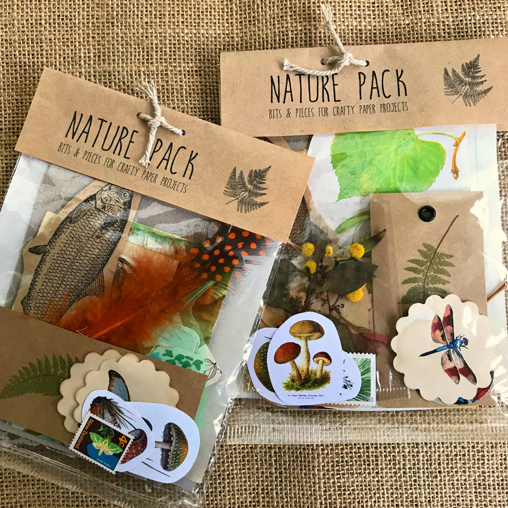 Vintage and nature inspired collection of ephemera for paper craft projects available at Tribe Castlemaine