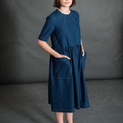 Create two complimentary dresses with the Ellis & Hattie Sewing Pattern from Merchant & Mills at Tribe Castlemaine.