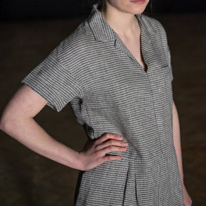 Easy fit, twenties-style Factory Dress Sewing Pattern from Merchant & Mills at Tribe Castlemaine.