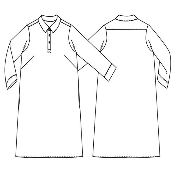 Versatile Rugby Dress Sewing Pattern from Merchant & Mills at Tribe Castlemaine.