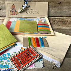 Cool little kit with all the materials to create a personalised calico pencil case from Tribe Castlemaine