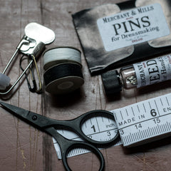 First aid for clothes in a handy silver tin from Merchant & Mills at Tribe Castlemaine.