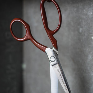 "The crème de la crème of tailoring scissors, red extra sharp 8"" tailor's shears from Merchant & Mills at Tribe Castlemaine."