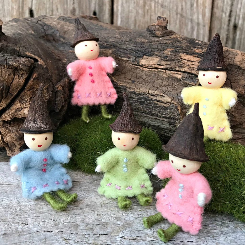 TIny fairies for fairy gardens and fairy houses handmade in Australia by Elfin Trail available at Tribe Castlemaine