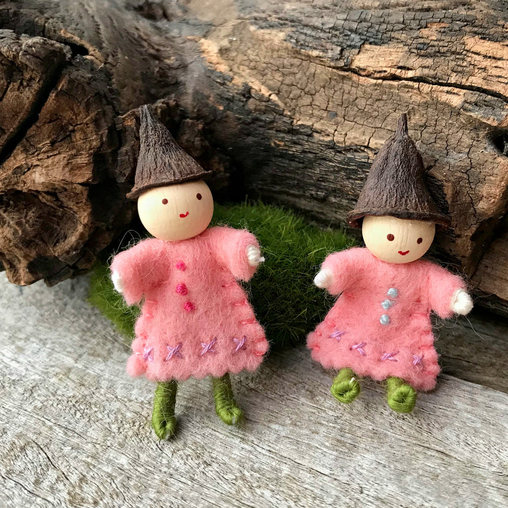 Little fairies for fairy gardens and fairy houses handmade in Australia by Elfin Trail available at Tribe Castlemaine