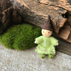 Miniature fairies for fairy gardens and fairy houses, Steiner toys, handmade in Australia by Elfin Trail available at Tribe Castlemaine