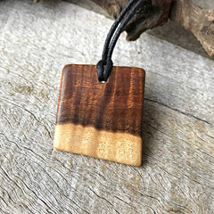 Wooden necklaces handmade from reclaimed gidgee timber
