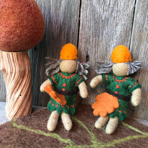 Woodland sprite Steiner toys Waldorf toys handmade all natural materials available at Tribe Castlemaine