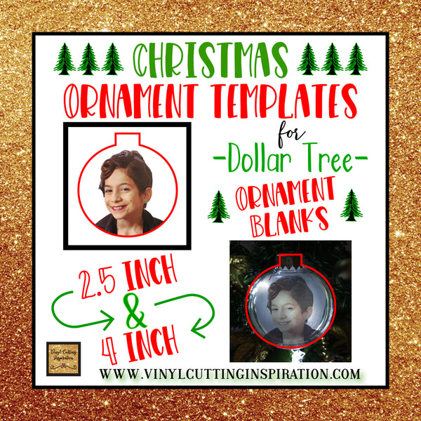 DIY - Christmas Tree Ornaments - Dollar Tree Crafts - Free SVG