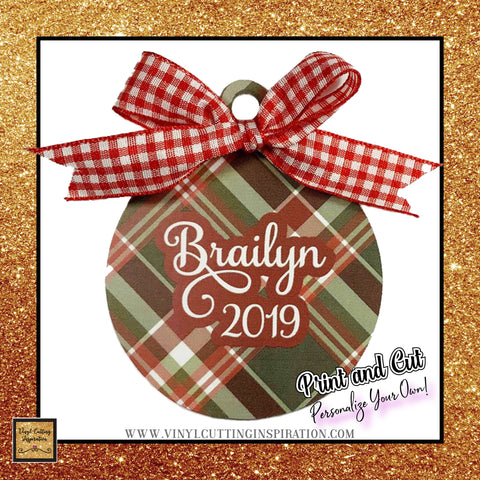buffalo plaid christmas svg