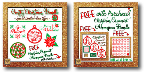christmas svg christmas monogram ornaments