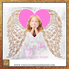 gold angel wings PNG, Sublimation Designs, Printable Angel Wings