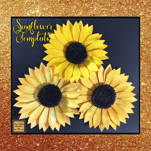 Sunflower Svg, 3d Sunflower, Sunflower design, Paper Flower, Paper Sunflowers, Sunflower Template Svg Cut File, Paper Flower, Paper Flowers, Sunflower SVG, Sunflower Template for Cricut, Sunflower Template Printable - Vinyl Cutting Inspiration