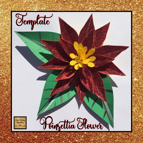 3d Flowers, Poinsettia Paper Flower, Paper Poinsettia, Poinsettia Template, Svg Cut File, Paper Flower, Paper Flowers, Poinsettia SVG, Poinsettia Template for Cricut, Poinsettia Template Printable - Vinyl Cutting Inspiration