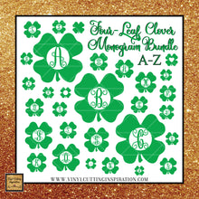 4-Leaf Clover Monogram Bundle, Shamrock svg, Clover Svg, St. Patricks Day Svg, 4 leaf clover svg, Irish svg, St. Patty's Day Svg, Svg images, Monogram Bundle, SVG Bundle, Cut files, luck - Vinyl Cutting Inspiration