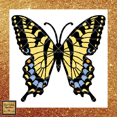 Butterfly Svg, Butterfly Svg File, Butterfly Svg for Cricut, Butterfly Svg Cut File, SVG Files, Butterfly Dxf, Butterfly Clipart, Vector Butterfly, SVG Cutting Files for Cricut, Svg, DXF, Tiger Swallowtail Butterfly - Vinyl Cutting Inspiration