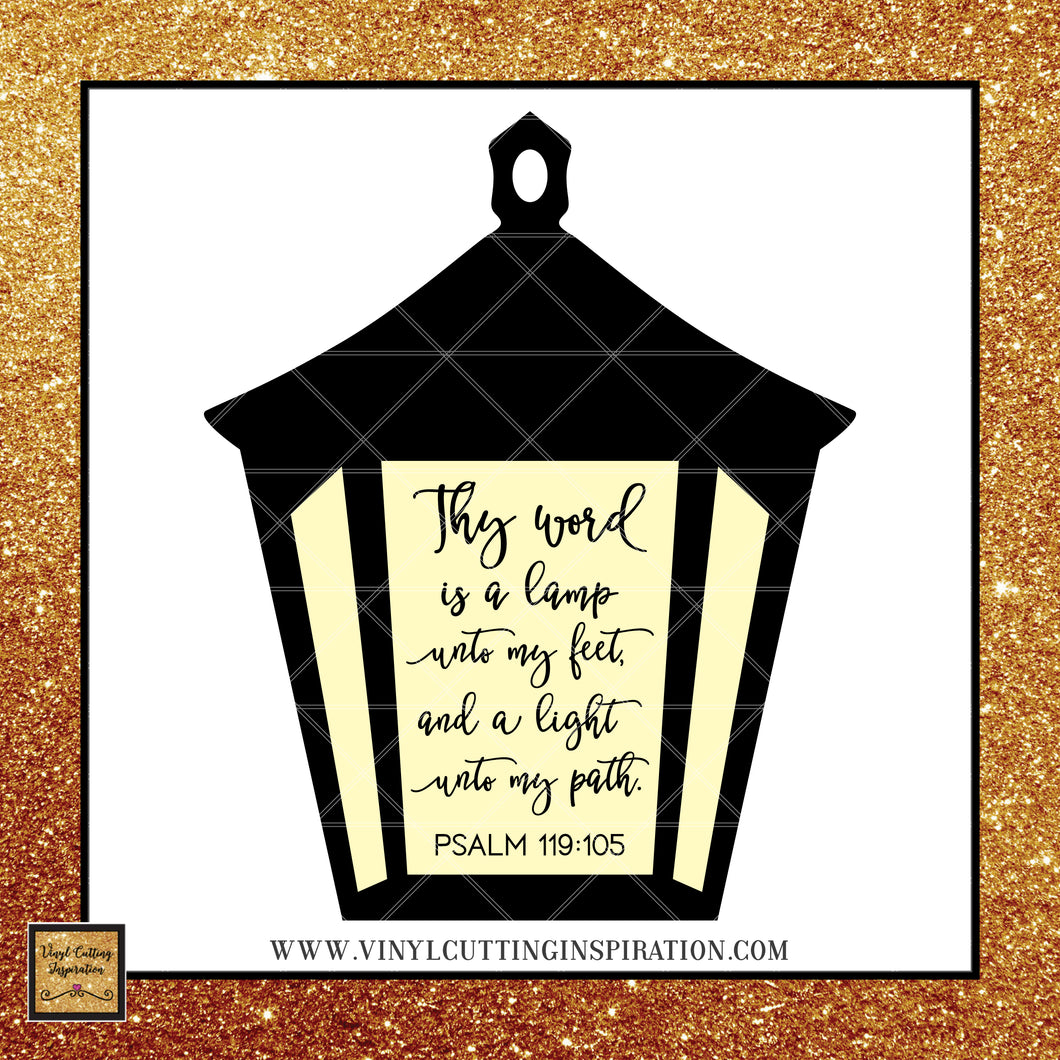 Bible Verse SVG- Thy Word is a lamp unto my feet, Psalm svg, Psalm 119:105, Svg files for Cricut, Scripture Svg, Christian Svg, Svg files, Bible verse Dxf, love svg, Faith Svg, Walk by Faith Svg, dxf - Vinyl Cutting Inspiration