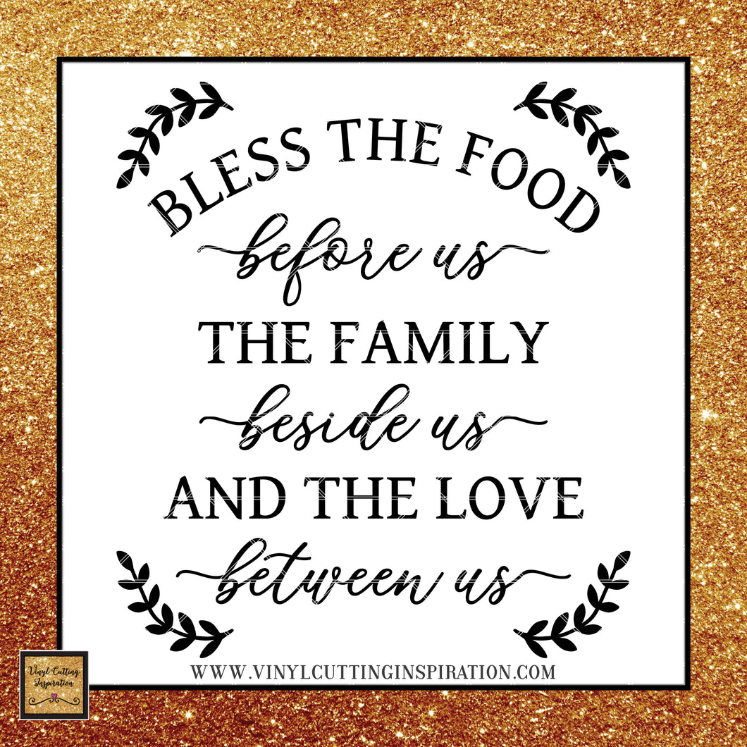 Bless the Food Before Us SVG, Farmhouse Svg, Farmhouse Kitchen Sign Svg, Farmhouse Kitchen Svg, Farmhouse Kitchen Decor, Farmhouse Kitchen Sign, Farmhouse Kitchen Wall Decor, Svg Files, Svg images, Farmhouse Cutting Files for Cricut & Silhouette - Vinyl Cutting Inspiration
