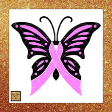 Breast Cancer Awareness Ribbon Svg, Breast Cancer Awareness, Pink Ribbon Pink Butterfly Cancer Ribbon, Svg Cutting Files, Svg Files, Svg Images, Cancer Ribbons - Vinyl Cutting Inspiration