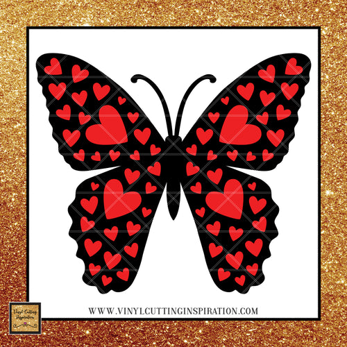 Butterfly Svg, Heart Svg, Valentines Day Butterfly, Love Svg, Wings Svg, Butterfly svg file, Butterfly Svg for Cricut, Butterfly Dxf, Butterfly Clipart, Vector Butterfly, Svg Cutting Files for Cricut and Silhouette - Vinyl Cutting Inspiration