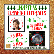 Christmas Tree Ornament Templates for the Dollar Tree Ornament Blanks - Svg, Dxf - Vinyl Cutting Inspiration