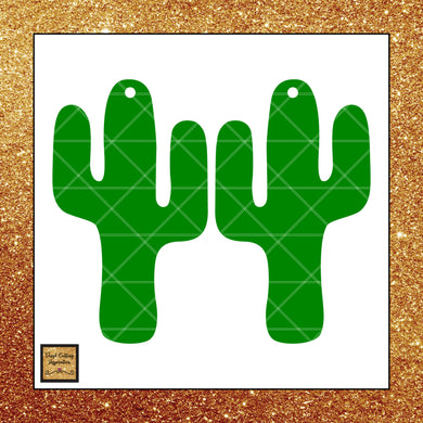 Cactus Svg, Cactus Earrings Svg, Cactus Earrings Template, Faux Leather Cactus Earrings Svg, Svg images, Svg File, Cactus Dxf, Faux Leather Earrings - Vinyl Cutting Inspiration