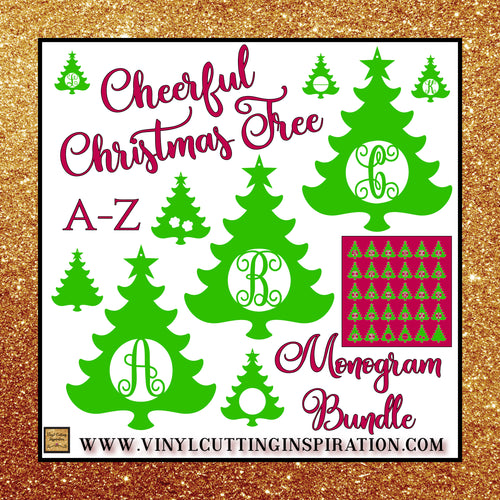 Christmas Tree Svg Monogram Bundle, Christmas, Christmas Tree Svg, Christmas Svg, Christmas Tree Ornaments, Christmas Ornament, Laser cutting door hanger templates - Vinyl Cutting Inspiration