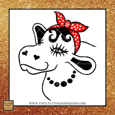 Cow with Bandana Svg, Cow svg, Cow Head, Cow Face svg, Heifer svg, Farm svg, Farm Animal svg, Animal svg, Farmhouse svg, svg files for Cricut, files for Silhouette - Vinyl Cutting Inspiration