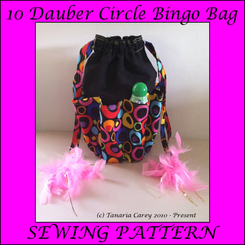 FREE - Bingo Bag Sewing Pattern - Circle - 10 Dauber - Printable PDF - Vinyl Cutting Inspiration