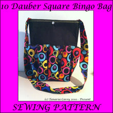 SQUARE - Bingo Bag Sewing Pattern -10 Dauber - Printable PDF - Vinyl Cutting Inspiration