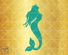 Magical Mermaid 1, Mermaid SVG, Mermaid Silhouette Svg, Mermaid Tail Svg, Nautical Svg, Ocean Mermaid Vector, SVG, DXF, Vector Cutting - Vinyl Cutting Inspiration