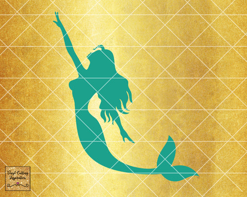 Magical Mermaid 11, Mermaid SVG, Mermaid Silhouette Svg, Mermaid Tail Svg, Nautical Svg, Ocean Mermaid Vector, SVG, DXF, Vector Cutting - Vinyl Cutting Inspiration