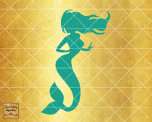 Magical Mermaid 8, Mermaid SVG, Mermaid Silhouette Svg, Mermaid Tail Svg, Nautical Svg, Ocean Mermaid Vector, SVG, DXF, Vector Cutting - Vinyl Cutting Inspiration
