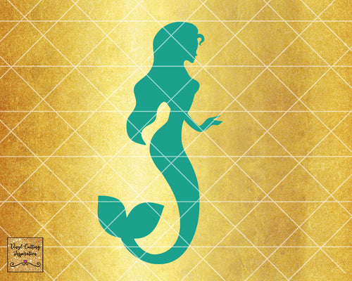 Magical Mermaid 10, Mermaid SVG, Mermaid Silhouette Svg, Mermaid Tail Svg, Nautical Svg, Ocean Mermaid Vector, SVG, DXF, Vector Cutting - Vinyl Cutting Inspiration