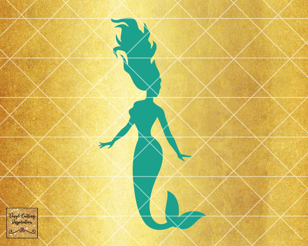 Magical Mermaid 6, Mermaid SVG, Mermaid Silhouette Svg, Mermaid Tail Svg, Nautical Svg, Ocean Mermaid Vector, SVG, DXF, Vector Cutting - Vinyl Cutting Inspiration