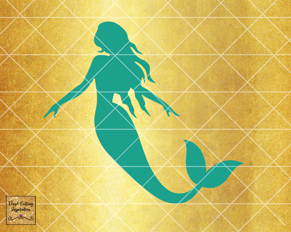 Magical Mermaid 3, Mermaid SVG, Mermaid Silhouette Svg, Mermaid Tail Svg, Nautical Svg, Ocean Mermaid Vector, SVG, DXF, Vector Cutting - Vinyl Cutting Inspiration