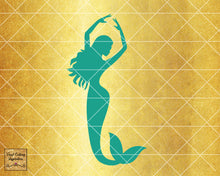 Magical Mermaid 5, Mermaid SVG, Mermaid Silhouette Svg, Mermaid Tail Svg, Nautical Svg, Ocean Mermaid Vector, SVG, DXF, Vector Cutting - Vinyl Cutting Inspiration