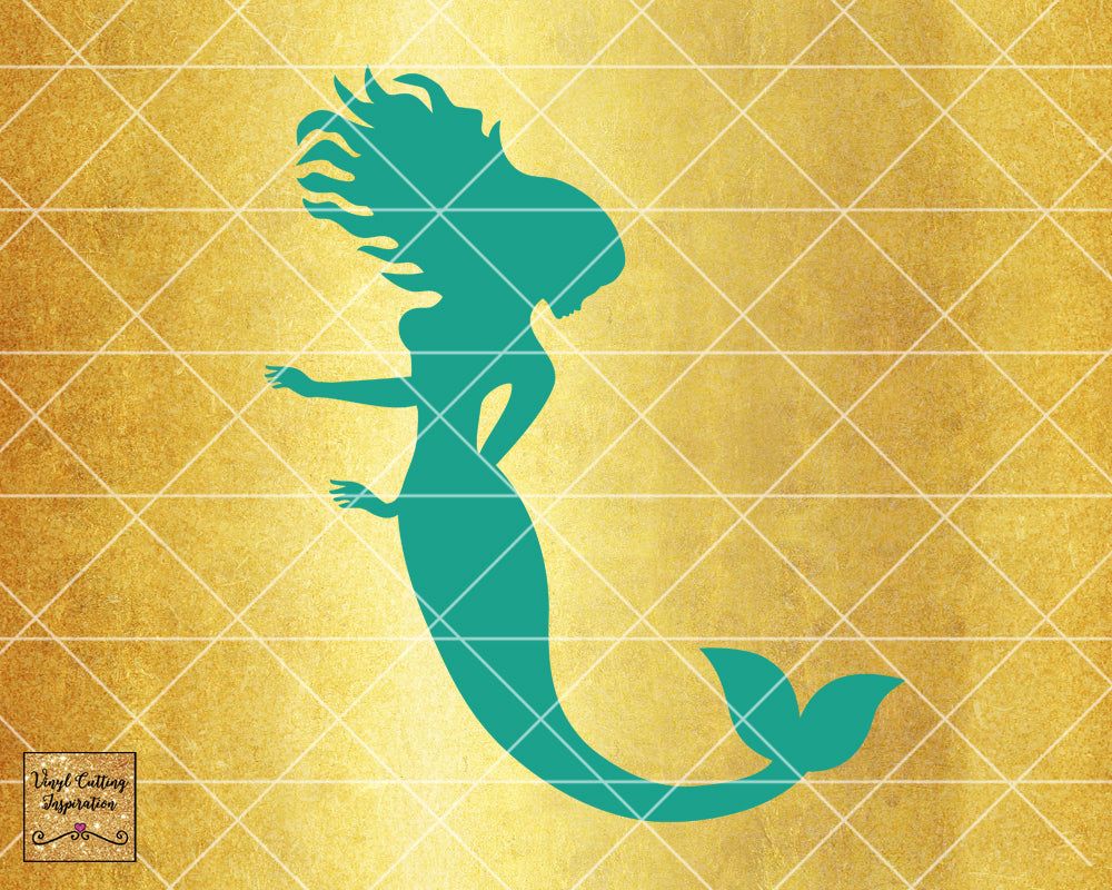 Magical Mermaid 9, Mermaid SVG, Mermaid Silhouette Svg, Mermaid Tail Svg, Nautical Svg, Ocean Mermaid Vector, SVG, DXF, Vector Cutting - Vinyl Cutting Inspiration