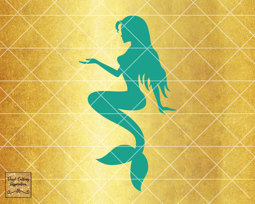 Magical Mermaid 7, Mermaid SVG, Mermaid Silhouette Svg, Mermaid Tail Svg, Nautical Svg, Ocean Mermaid Vector, SVG, DXF, Vector Cutting - Vinyl Cutting Inspiration