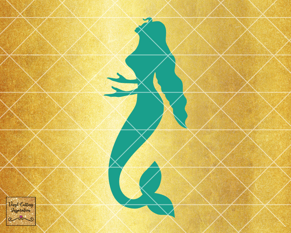 Magical Mermaid 4, Mermaid SVG, Mermaid Silhouette Svg, Mermaid Tail Svg, Nautical Svg, Ocean Mermaid Vector, SVG, DXF, Vector Cutting - Vinyl Cutting Inspiration