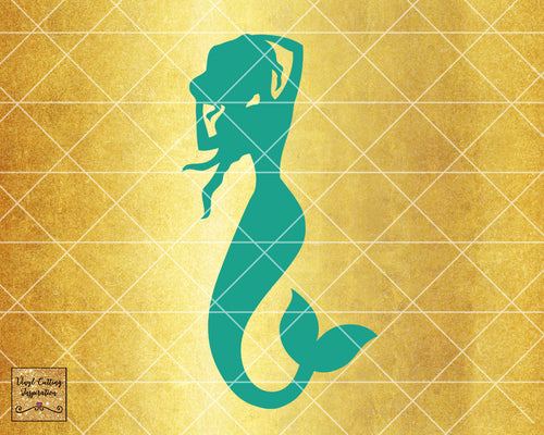 Magical Mermaid 2, Mermaid SVG, Mermaid Silhouette Svg, Mermaid Tail Svg, Nautical Svg, Ocean Mermaid Vector, SVG, DXF, Vector Cutting - Vinyl Cutting Inspiration